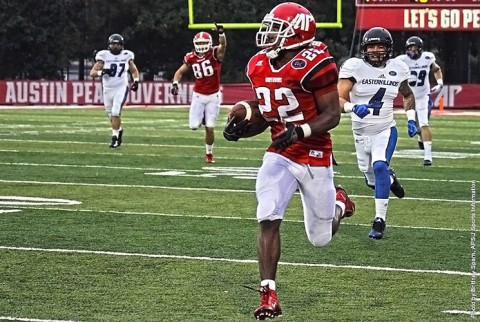 Austin Peay running back Kendall Morris ran for 144 yards and a touchdown in lose to Eastern Illinois Panthers Saturday afternoon. (APSU Sports Information)