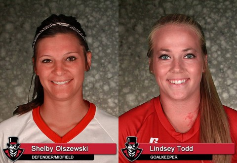 APSU Soccer's Shelby Olszewski and Lindsey Todd
