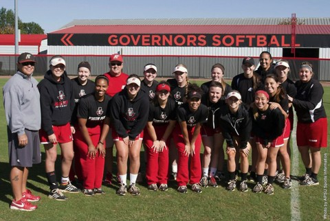 Austin Peay Softball raises money for Vanderbilt's Children Hospital. (APSU Sports Information)