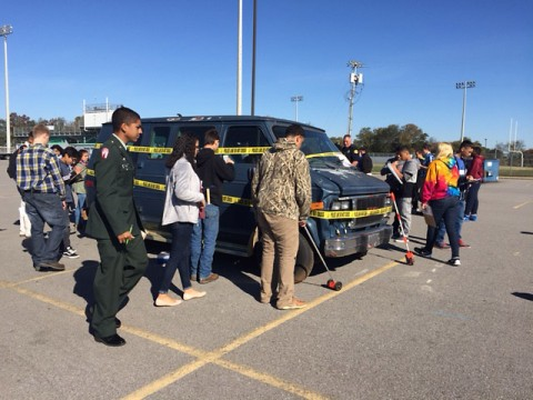 Clarksville Police help West Creek High School Academy of Criminal Justice and Homeland Security learn criminal justice in real world situations.