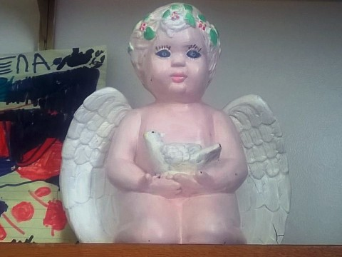 An Angel Urn that contains the ashes of a deceased child was stolen from an apartment at 136 Jack Miller Boulevard.