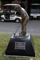 Dr. Keith Peterson's statue at Clarksville's Swan Lake Golf Course