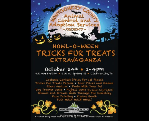 First annual Howl-O-Ween Tricks Fur Treats Extravaganza to be held Saturday, October 24th.
