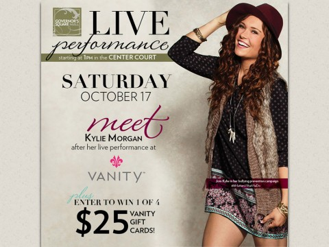 Kylie Morgan at Clarksville's Governors Square Mall