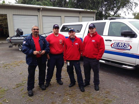 (L to R) Paramedic Terry Miller, Lieutenant Dustin Haas, Paramedic Chris Turner and Paramedic Garland Lester.