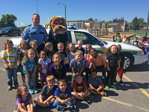 "Montgomery Conty School Resource Officers Division's new Mascot ""Copper the K-9"" debuted to Woodlawn Elementary School's Kindergarten classes."