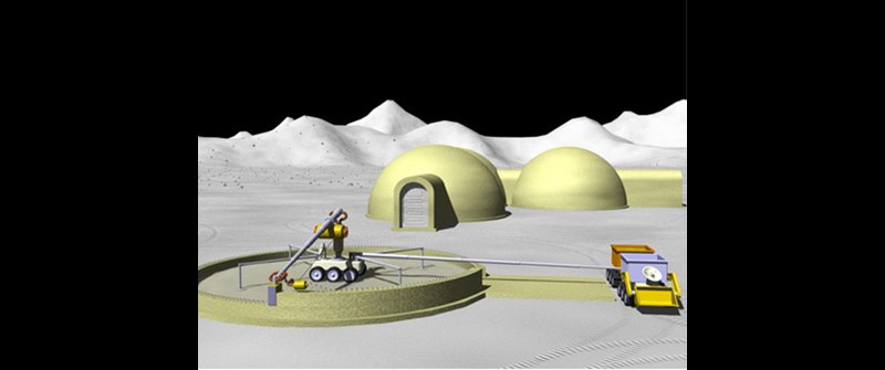 Pre-positioned habitats for crew protection upon arrival. (NASA)