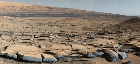 "A view from the ""Kimberley"" formation on Mars taken by NASA's Curiosity rover. (NASA/JPL-Caltech/MSSS)"