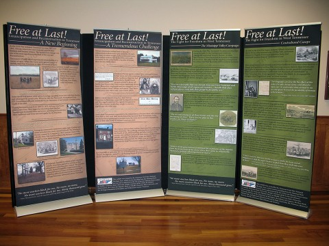 "Tennessee Civil War National Heritage Area's ""Free at Last"" traveling exhibition"