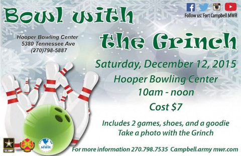 Fort Campbell MWR to hold Bowl with the Grinch December 12th