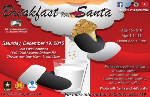 Fort Campbell's MWR to hold Breakfast with Santa