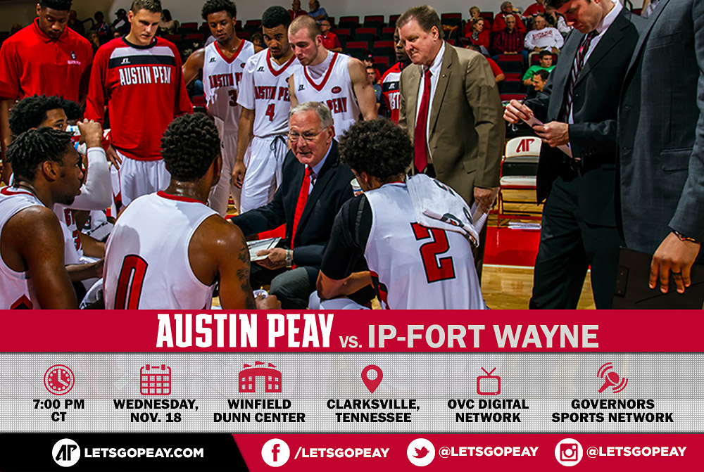 Austin Peay Men's Basketball opens 2015-16 season at the Dunn Center against IP-Fort Waynes, Wednesday. (APSU Sports Information)