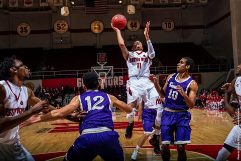 Austin Peay Men's Basketball get 91-64 win over Sewanee Thursday night. (APSU Sports Information)