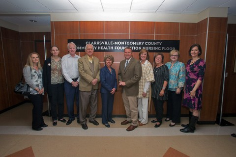 APSU officially names nursing floor of the McCord Building after Clarksville-Montgomery County Community Health Foundation.