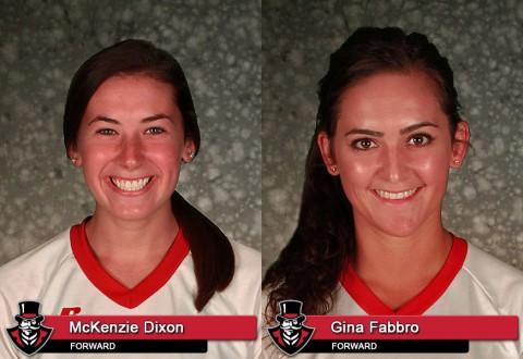 APSU Soccer's McKenzie Dixon and Gina Fabbro