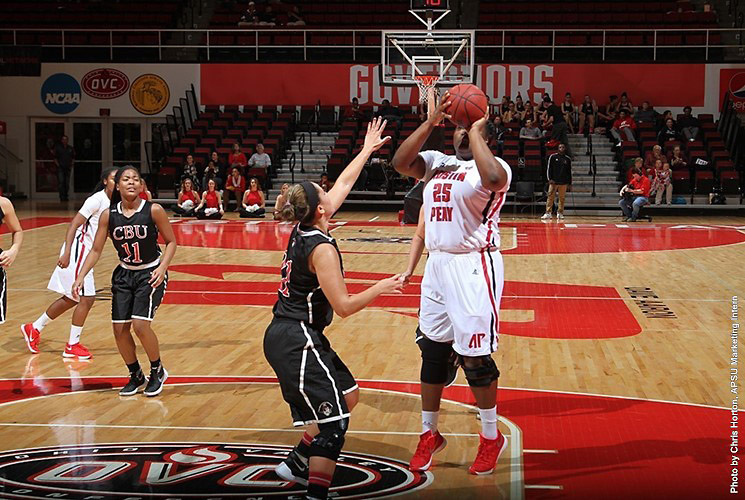 Austin Peay Women's Basketball lose 90-58 to Indiana, Saturday afternoon. (APSU Sports Information)