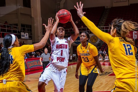 Austin Peay Women's Basketball falls 67-58 to California Bears Friday night. (APSU Sports Information)