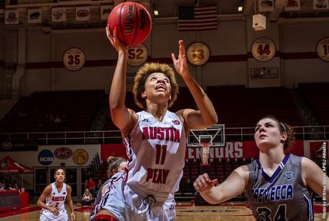 Austin Peay Women's Basketball get win Monday night over Trevecca Trojans. (APSU Sports Information)