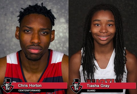 APSU's Chris Horton and Tiasha Gray