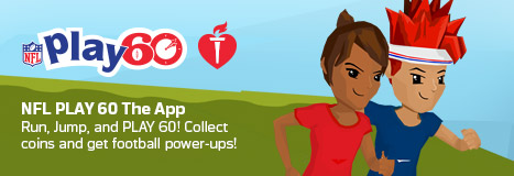 American Heart Association and National Football League Race to Super Bowl 50 with the NFL PLAY 60 App
