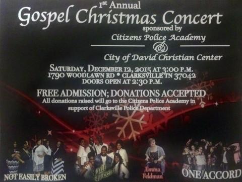 Clarksville Citizens Police Academy Gospel Christmas Concert