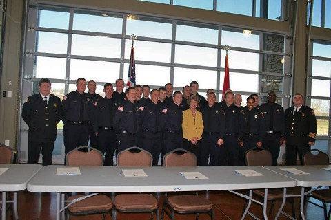 Clarksville Mayor McMillan welcomes 21 new CFR Firefighters.