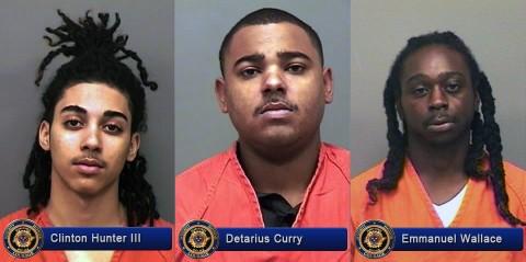 Clinton Hunter III, Detarius Curry and Emmanuel Wallace
