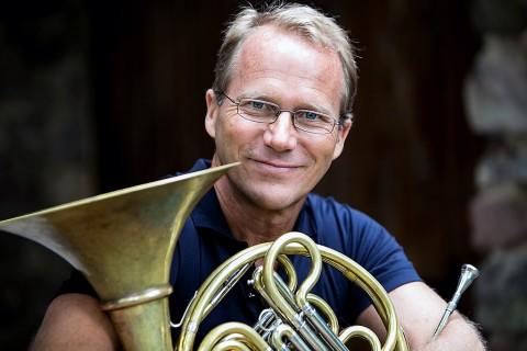 French horn player Eric Ruske. (Matt Dine)