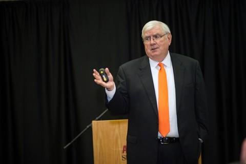 APSU alumnus Larry Carroll. (Taylor Slifko, APSU)