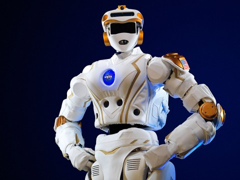 NASA's R5 robot, which is NASA's newest humanoid robot and was built to compete in the DARPA Robotics Challenge. Image released Dec. 12, 2013. (NASA)
