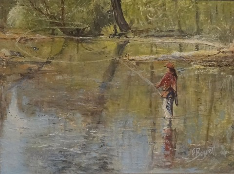 Surroundings: The Art of Frank Baggett exhibit on display at Clarksville's Customs House Museum.