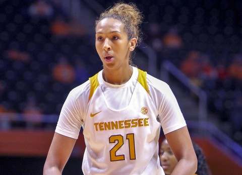 Tennessee Womens Basketball's Mercedes Russell nets six points in loss to Texas Sunday. (Randy Sartin-USA TODAY Sports)