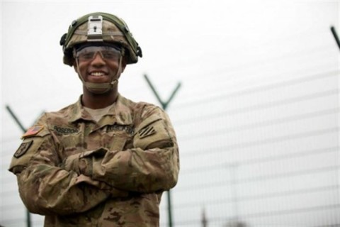 Soldiers serving in Germany discuss values, service, and sacrifice as Veterans Day, observed Nov. 11, approaches. Here, Army Sgt. Charles Roseboro prepares to perform preventive maintenance checks and services with his comrade during Exercise Combined Resolve V at the Joint Multinational Readiness Center in Hohenfels, Germany, Nov. 7, 2015. (Courtesy photo)
