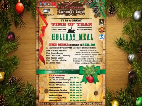 "Christmas ""Holiday Meal to Go"" from Smokehaus."