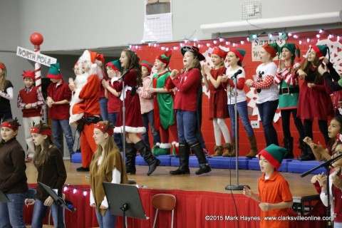 "Montgomery Central Elementary School 5th grade performs ""The Reindeer Whisperer""."