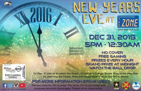 2015 New Years Eve at The Zone