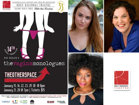 """The Vagina Monologues"" stars (Top L to R) Emily Rourkem, Jackie Ostick and Mariah Sade Ralph."