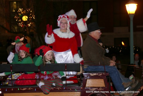 The 56th Annual Clarksville-Montgomery County Lighted Christmas Parade.
