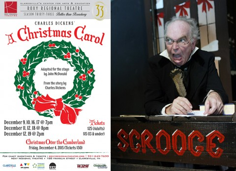 "A Christmas Carol"" plays at the Roxy Regional Theatre December 9th - December 19th."