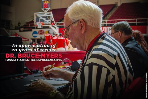 Austin Peay State University's Faculty Athletic Representative (FAR) Dr. Bruce Myers to step down from that position at month's end. (APSU Sports Information)