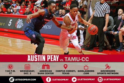Austin Peay Men's Basketball start five game road trip at Texas A&M-Corpus Christi, Wednesday. (APSU Sports Information)