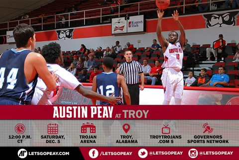 Austin Peay Men's Basketball hit the road Saturday to face Troy Trojans. (APSU Sports Information)