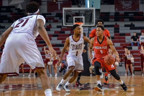 Austin Peay's Terrell Thompson had 13 points, five assists and just one turnover as the Governors gained a road win at Troy. (Chris Davis)
