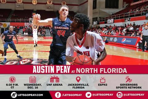 Austin Peay Men's Basksetball takes on North Florida Wednesday. (APSU Sports Information)