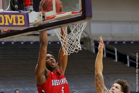 Austin Peay Men's Basketball center Chris Horton scores career high 37 points in win over Lipscomb Sunday. (APSU Sports Information)