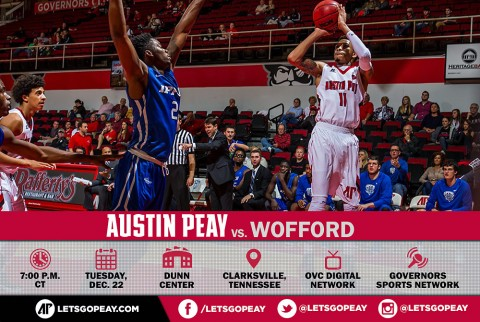 Austin Peay Men's Basketball face Wofford at the Dunn Center, Tuesday. (APSU Sports Information)