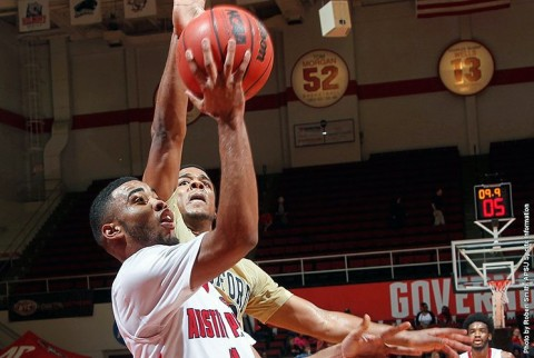 Austin Peay Men's Basketball beat Wofford 84-77 at the Dunn Center Tuesday night. (APSU Sports Information)