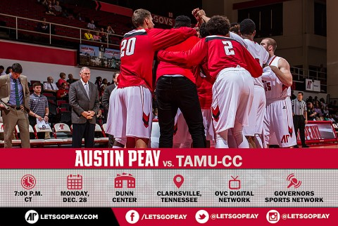Austin Peay Men's Basketball plays Texas A&M-Corpus Christi at the Dunn Center Monday night. (APSU Sports Information)
