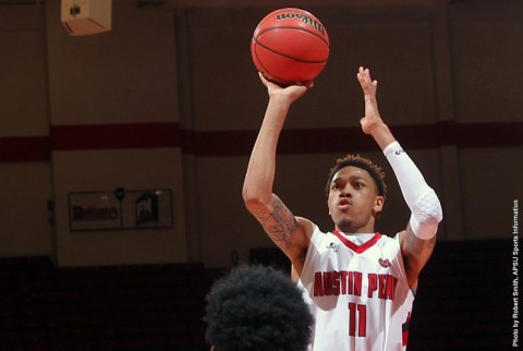 Austin Peay Men's Basketball lose 74-70 to Texas A&M-Corpus Christi at the Dunn Center Monday night. (APSU Sports Information)