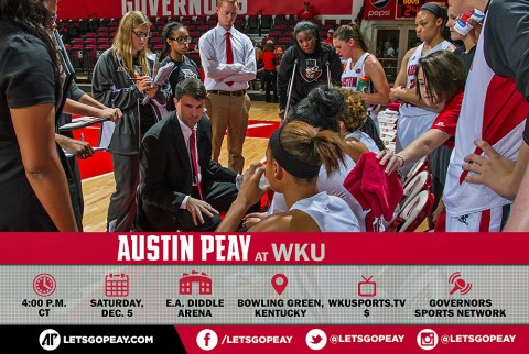 Austin Peay Women's Basketball are on the road Saturday to play Western Kentucky. (APSU Sports Information)